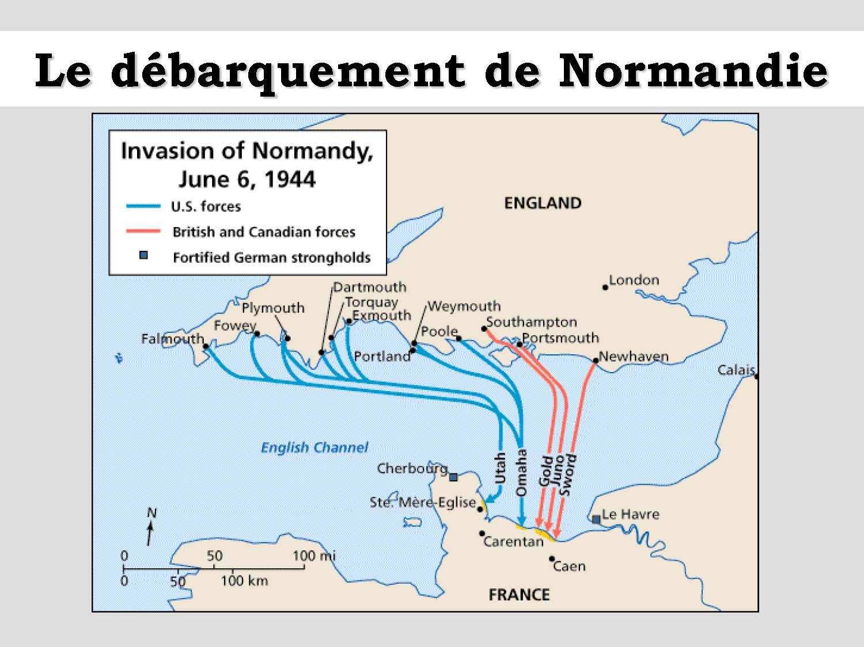 Cartes Du Debarquement En Normandie 1944
